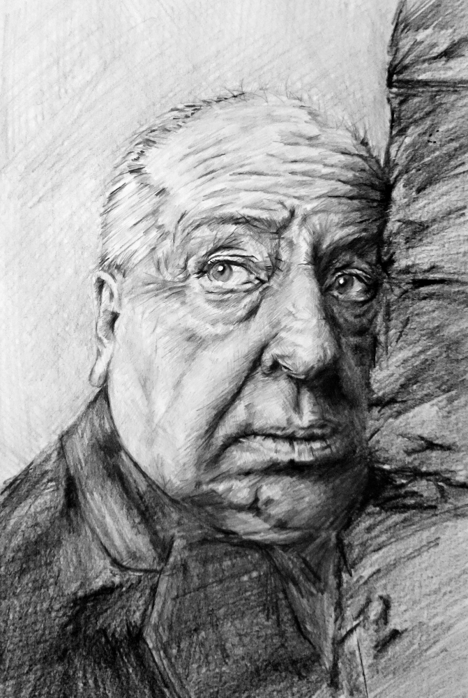 Alfred Hitchcock by linshyhchyang